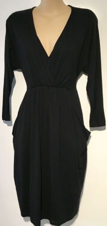 MAMAS & PAPAS BLACK POCKETS MATERNITY & NURSING DRESS SIZE 10